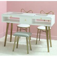 Chair-Set Nail-Table Combination White And Red Nordic-Net Economic Ins-Paint Special