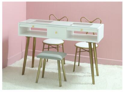Tırnak masası ve sandalye seti kombinasyonu İskandinav net kırmızı tek çift çift manikür seti özel ekonomik ins boya beyaz
