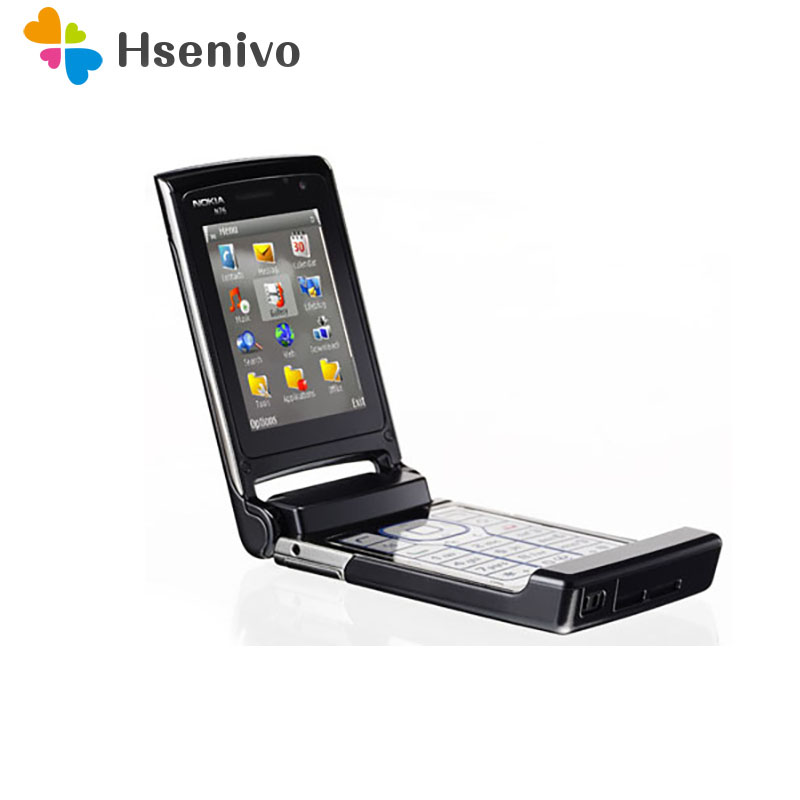 Nokia N76 Original Bluetooth JAVA 2MP Unlocked Mobile Phone Support Russian Keyboard Refurbished Free Shipping