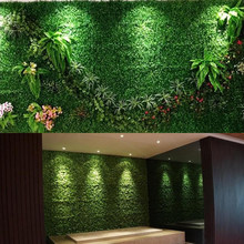 Kunstmatige Plant Gazon Diy Achtergrond Muur Simulatie Gras Leaf Wedding Home Decoratie Groen Tapijt Turf Kantoor Decor(China)