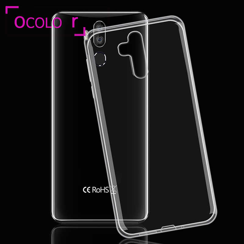 ocolor For Oukitel K9 Silicone Case Soft Anti-knock Back TPU Cover Replacement 7.12'' For Oukitel K9 Clear Silicone Phone Case