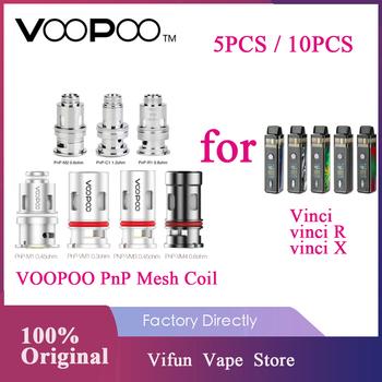 Oryginalny VOOPOO PnP cewka z siatką do VINCI Vinci X Vinci R zestaw z modem PnP-VM1 0 3ohm PnP-R1 0 8 ohm głowice Voopoo Vinci zestaw cewki tanie i dobre opinie VOOPOO PnP-VM1 Mesh Coil DS NC 5pcs pack