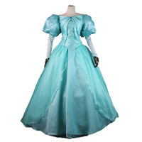 2019 new summer blue elsa costumes female Cosplay party Dresses Princess Ariel dress vestidos de festa meninas for women