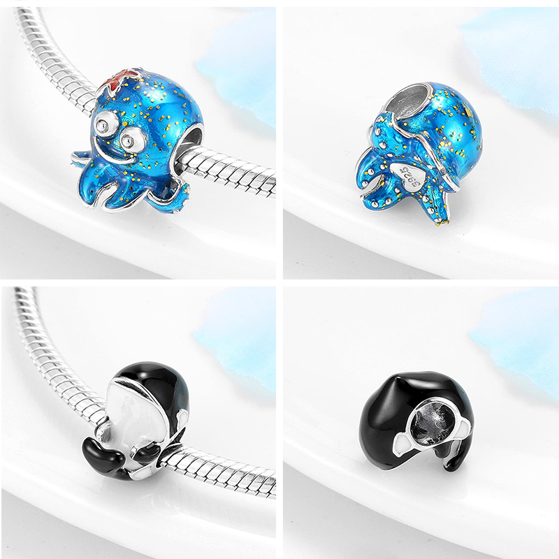 Unterwasserwelt Baby Whale Charme Armband Schmuck 925 Sterling Silber