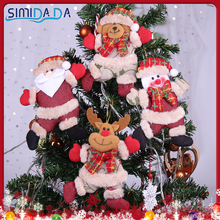 Toy Christmas-Ornaments Snowman Doll-Hang-Decorations Tree Santa-Claus 1PC Children's
