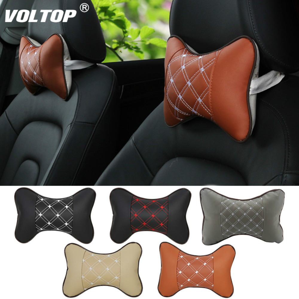 Image 2 - Car Cushion Back Pillow Seat Head Neck Rest Cushion Pillow Headrest Pad for Ford Bm Toyota Neck Auto Safety Supports-in Seat Supports from Automobiles & Motorcycles