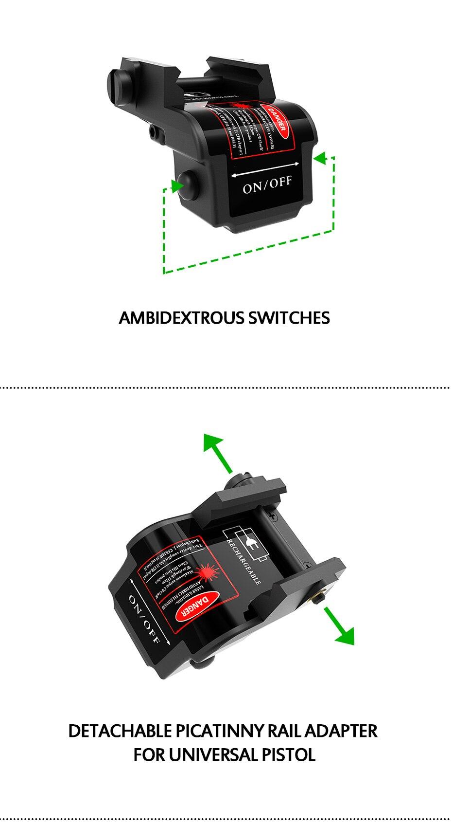 tático auto defesa armas arma laser picatinny