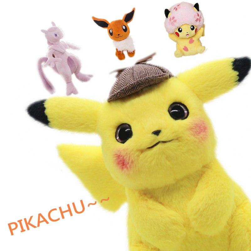 High Quality Pikachu Stuffed Toys Japan Game Doll Yellow Rat Toys For Boy Cherry Blossom Head Lady Shout Pikachu Dolls Toys