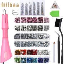 Applicateur de strass chauffant rapide, baguette à repasser, outil de fixation à chaud/taille mixte, strass, verre cristal DMC diamant
