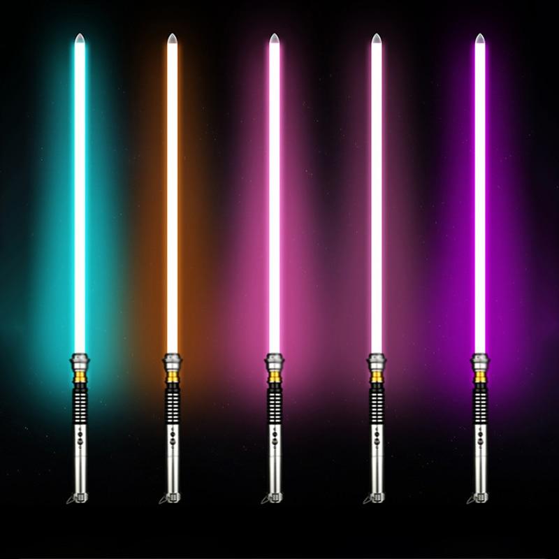 Jedi Knight Sith Luke Skywalker Lightsaber USB Recharging Cosplay Sound Effect Metal Sword Arena Duel Light Saber Luminous Toys