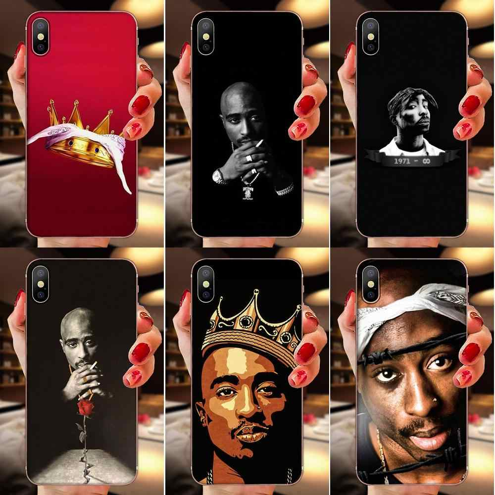 2pac Tupac Crown 2 Pac Weichen Fall Coque Abdeckung Für Apple iPhone 11 Pro X XS Max XR 4 4S 5 5C 5S SE 6 6S 7 8 Plus