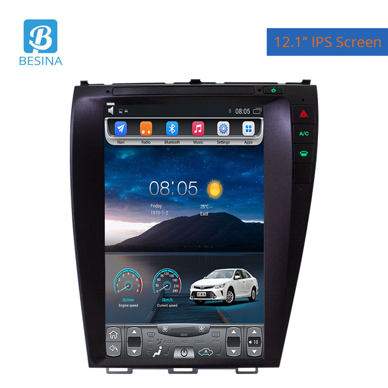Besina 12.1 Inch Android 9.1 Car Radio For Lexus GS GS300 GS460 GS450 Multimedia Player WIFI GPS Navigation 4G+64G Stereo Audio