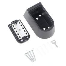 Suporte impermeável do fechamento do botão da caixa de armazenamento seguro chave de reposição da montagem na parede exterior