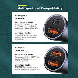 Image 2 - Baseus PD 20W USB Car Charger Quick Charge QC 4.0 3.0 Dual USB C Quick Charge Fast Charger For iPhone 12 Pro Max Xiaomi Huawei