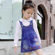 IENENS – robe d'été en Denim pour filles, salopette à bretelles, pour enfants de 3 à 6 ans