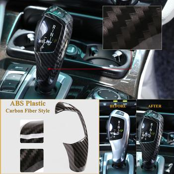 ABS Carbon Fiber Style Car Gear Shift Cover Sticker Fit For BMW E60 E70 X5 X6 Car Accessories image