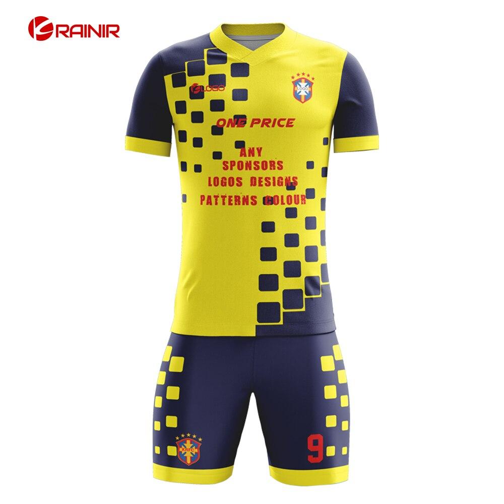 Authentic Football Jerseys Shirt New Style Soccer Kit Wholesale Customized Professional Soccer Uniform Soccer Set