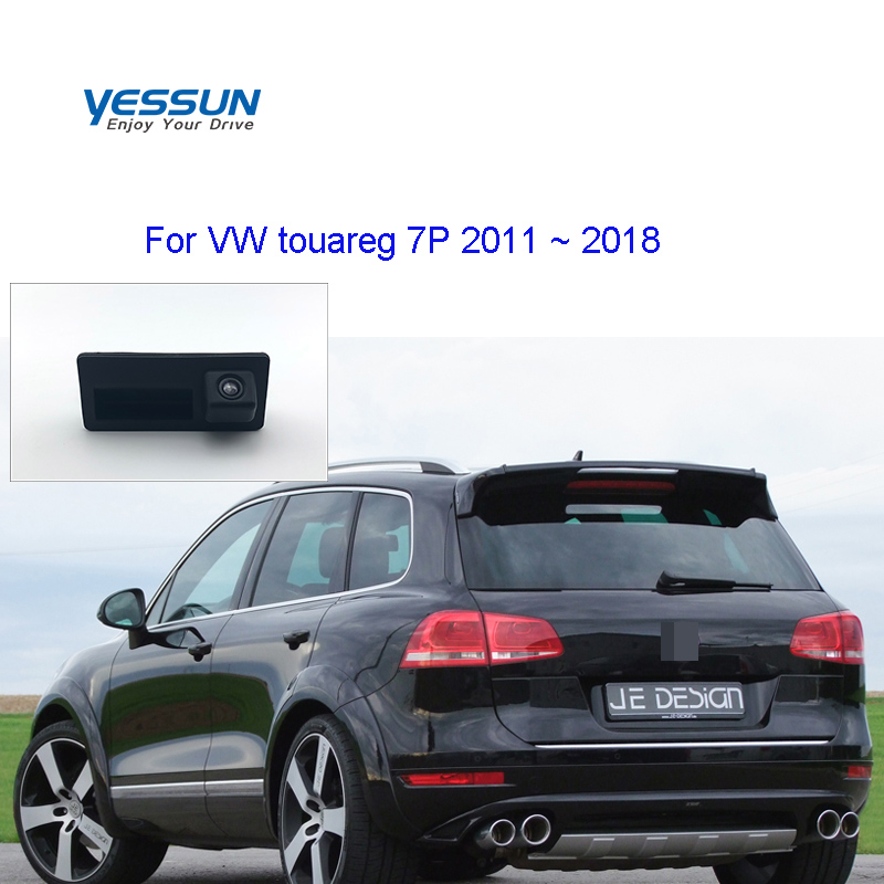 Car Trunk Handle camera For Volkswagen VW touareg 7P touareg 2 MK2 2011 2012 2013 2014 2015 2016 2017 2018 Rear View Camera image