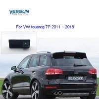Tronco do carro lidar com câmera para volkswagen vw touareg 7 p touareg 2 mk2 2011 2012 2013 2014 2015 2016 2017 2018 câmera de visão traseira|Câmera veicular| |  -