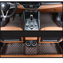 lsrtw2017 leather car floor mats carpet for Alfa Romeo Stelvio Giulia 2015 2016 2017 2018 2019 2020 interior accessories mat synthetic leather car floor foot mat for alfa romeo giulietta giulia 4s store gift baby520