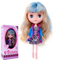 LOLS Surprise 36cm Jointed Movable BJD Dolls for Girl Fashion Blyth Doll Colour Hair DIY MGA Doll Dress Up Toys for Girls GIFTS