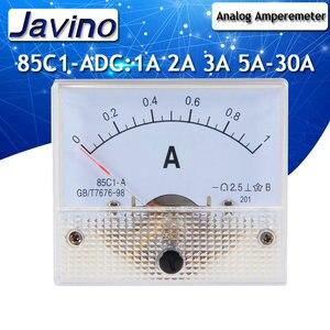 85C1-A DC amperímetro analógico painel instrumento 1A 2A 3A 5A 10A 20A 30A instrumento amp amperímetro