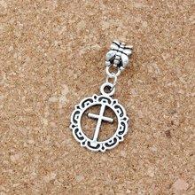 25 шт сплав открытый цветок круг крест подвеска Шарм с большим