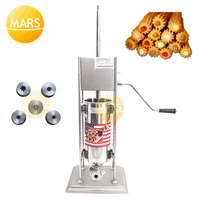 5L Churro Maker Machine Including 5 Churros Outlet Nozzle Stainless Steel Churros Making Machine 5L Spanish Churrera Maker|Waffle Makers| |  -