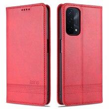 Beschermhoes Voor Oppo A74 5G Magnetische Cover Wallet Pouch Met Pocket