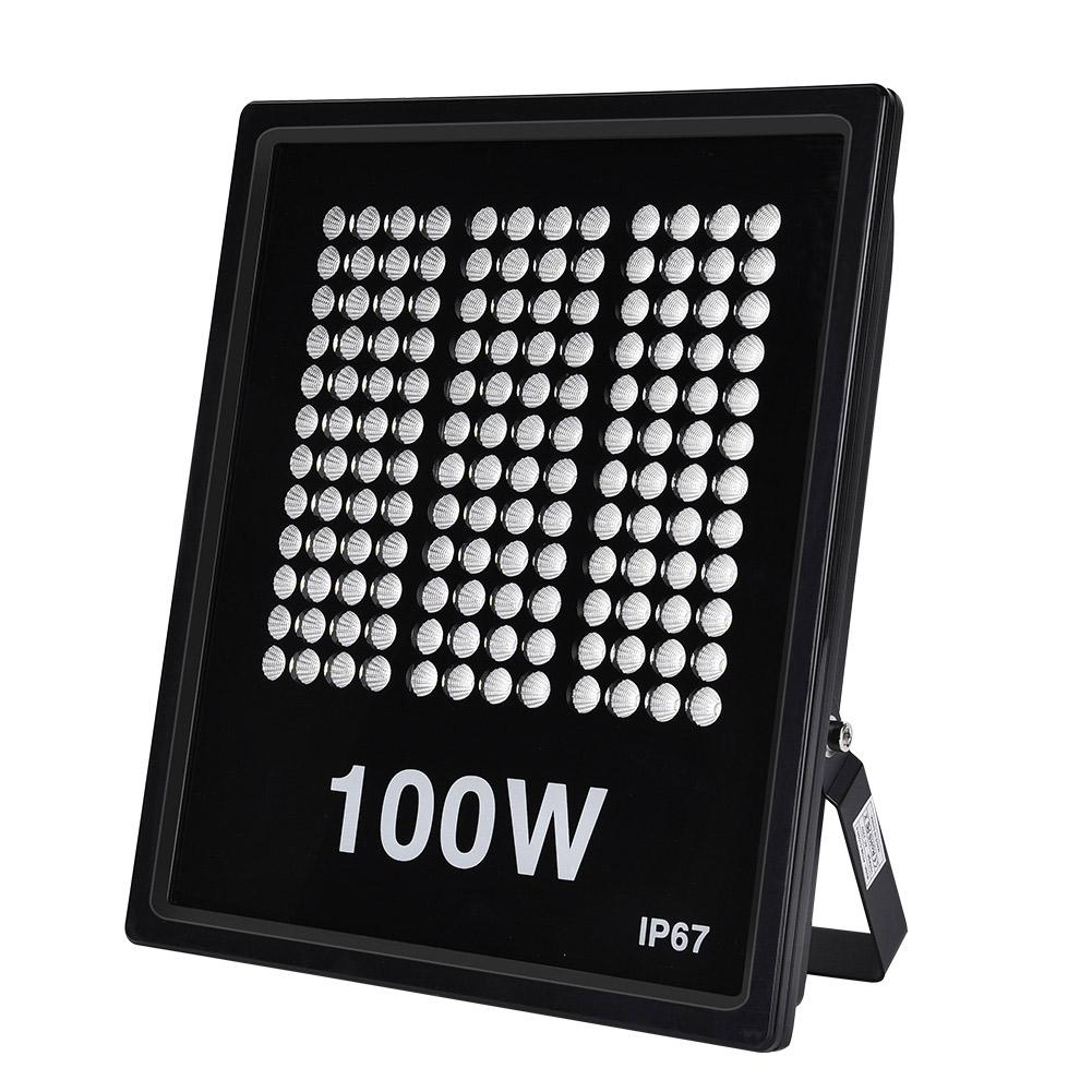 High Power 100W Led Flood Light 220V IP67 Waterproof Outdoor Lighting Cool White for basketball field, courtyard, parking lot