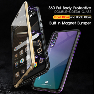 Image 2 - 360 Full Body Protective Case For Huawei P20 Pro P20Pro P 20 Magnetic Bumper Front Tempered Glass Film Cover Huawei P20 Pro Case