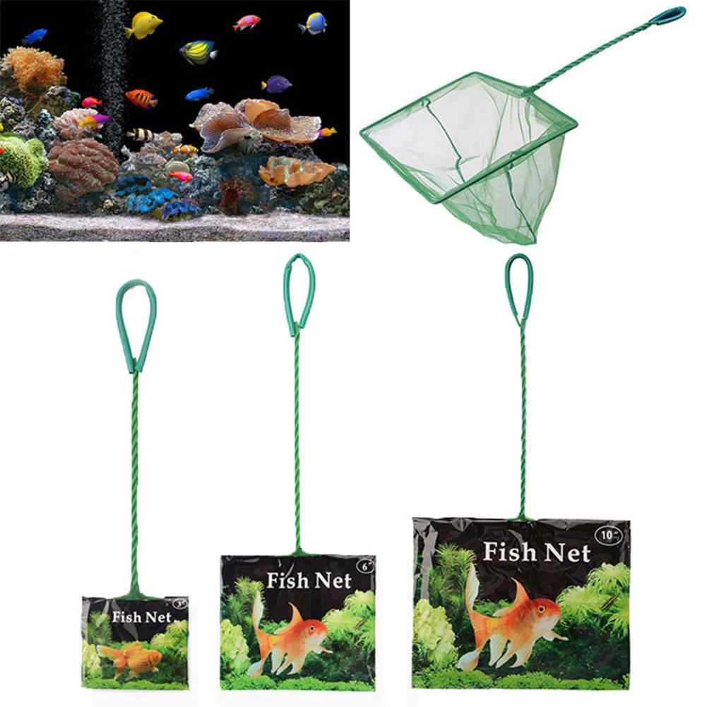 Portable Aquarium poisson crevette rapide capture filet maille résille longue poignée outil Aquarium Aquarium Aquarium filet de pêche atterrissage Aquarium filet