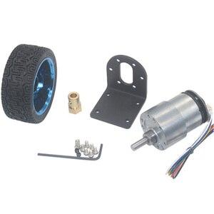 Image 4 - Moteur dencodeur à courant continu, couple élevé 6/12V, haute vitesse 7 à 1590 tr/min, moteur à courant continu, vitesse réversible réglable avec jeu de roues