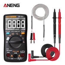 AN113D Digital Multimeter 6000 Counts Electrical Transistor Tester Temperature Auto Ranging AC/DC Voltage Meter for Electrician