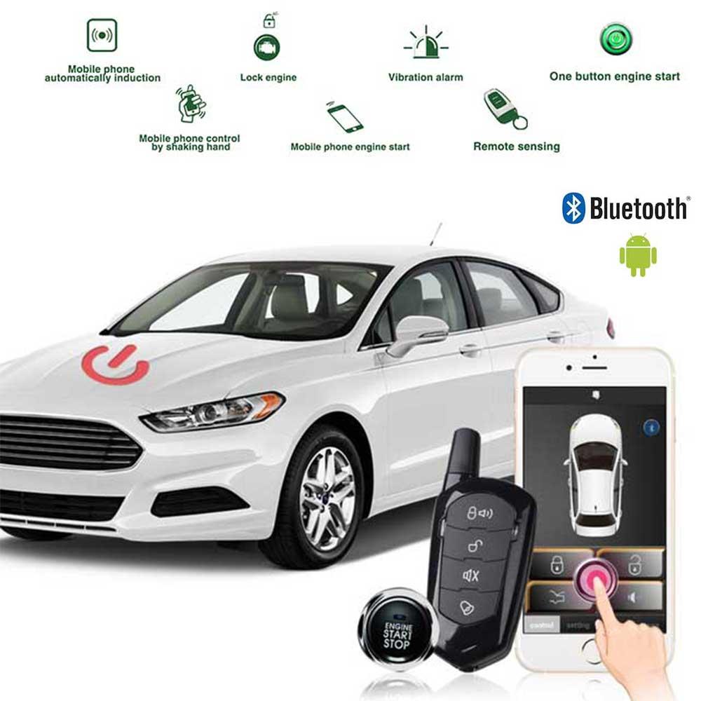 Car Alarm System Download Smart App Antitheft Car Quad Lock Car Accessories Central Locking Autostart Start Stop Button Starline