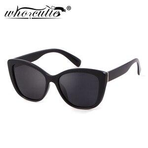 Black Cat Eye Sunglasses Polarized Shade
