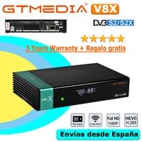 Gtmedia-receptor satélite V8X DVB-S2X, igual que Gtmedia V8 NOVA V9 Prime V8 Honor, WIFI integrado, H.265, 1080P, sin aplicación, gran oferta