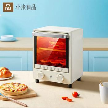 Youpin elektryczny minipiekarnik 12L elektryczny grill wbudowany chleb piec do pizzy sprzęt agd do kuchni inteligentne domowe jedzenie piekarnik tanie i dobre opinie XIAOMI CN (pochodzenie) Youpin Electric Mini Oven 12L Wtyczka amerykańska Gotowa do działania WEJŚCIE Smart Home Food Oven