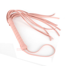 Exotic Accessories Sexy Bondage Flogger Flirting Leather Whip Slap Spanking Bdsm Whip With Tassel Whip Sexy Toy Women Pink