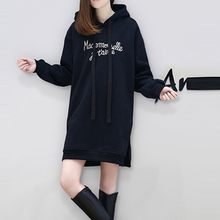 #35 Women Leisure Autumn Dress Women Dress Plus Size Fashion Sweatshirt Hoodie Long Sleeve Letter Printing Dress Fashion 2019(China)