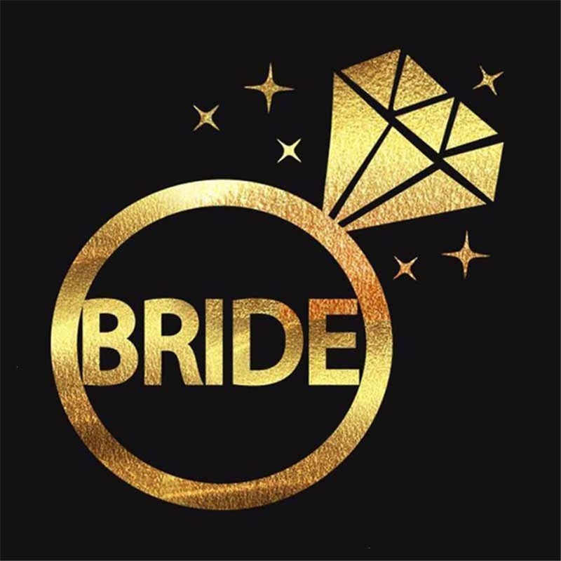 1 個チーム花嫁介添人新郎ワイングラスための花嫁は独身編パーティーブライダルシャワーの装飾 a175