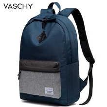 VASCHY Men Backpack Casual School for Women Water Resistant Durable Lightweight Daypack Work Rucksack