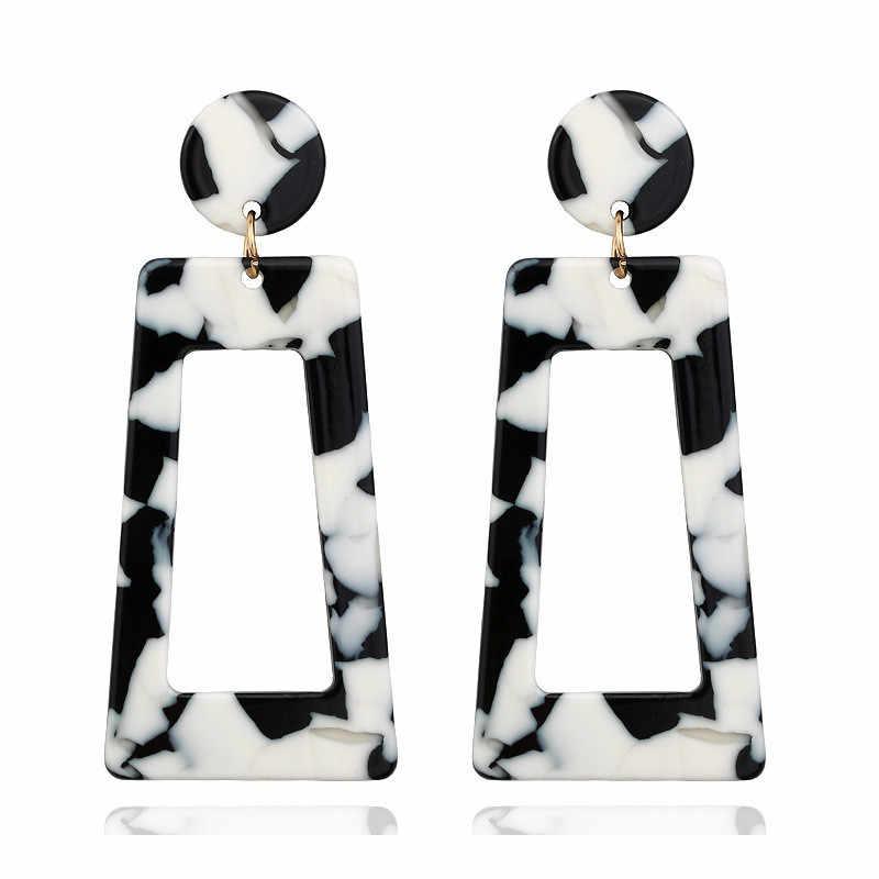 LETAPI 新韓国ビッグアクリル女性 2020 ジュエリーファッション樹脂メッキヒョウブラブライヤリングボヘミアン優先ギフト