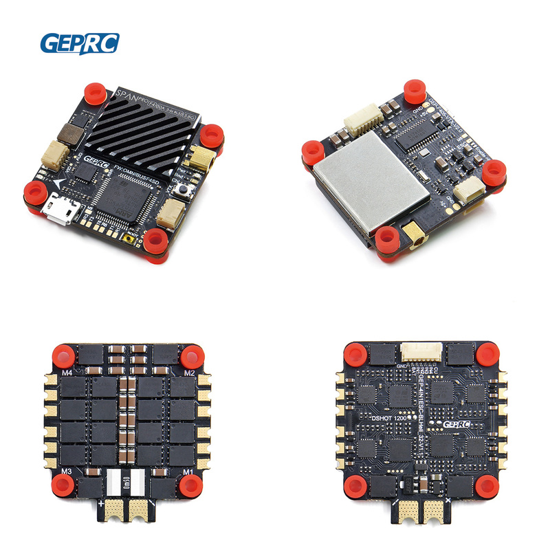GEPRC SPAN PRO F4 BL32 50A Tower FC 800mW VTX 4IN1  BLHeli_32 ESC Board For FPV Racing Drone 16%OFF