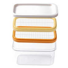 2 IN 1 BUTTER SLICER CONTAINER BUTTER DISH BUTTER KEEPER CONTAINER W/ LID 2 TYPE