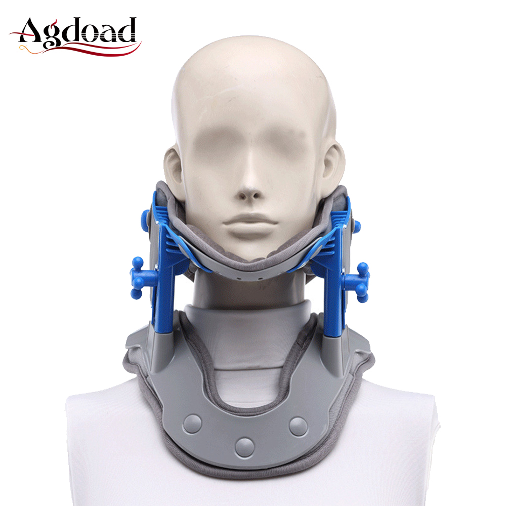 Spine Cervical Traction Collar Neck Support With Heating Pads Medical Household Neck Tractor Neck Pain Relief Cervical Orthosis