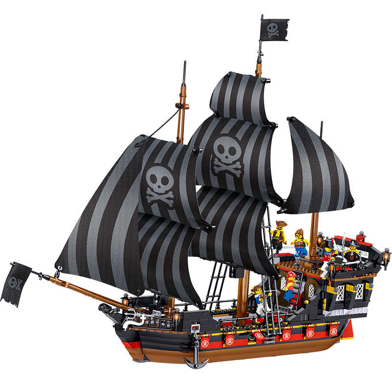 Pirati Dei Caraibi La Avventura Pirate Ship Boat Building Blocks Compatibile Legoing Film Technic di Mattoni di Giocattoli per Bambini Regalo