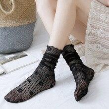 Носки женские в горошек, модные Универсальные осенне-зимние сапоги, японские милые носки, весна-лето