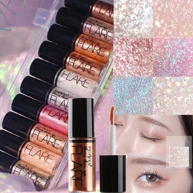 1PC Long Lasting Shiny Waterproof Liquid Glitter Eyeliner Eyeshadow Makeup Metallic Eye Liner Pen Eye Beauty Party Makeup Tools