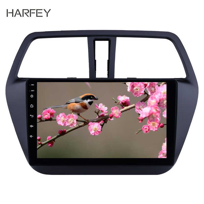 Harfey carro multimídia player de áudio para suzuki s-cross sx4 2014-2017 2 din autoradio gps bluetooth suporte obd2 dvr 3g wifi swc